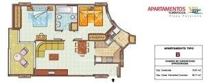 apartamento 2 habitaciones patacona