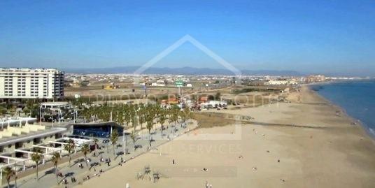vista aérea de la playa de la Patacona