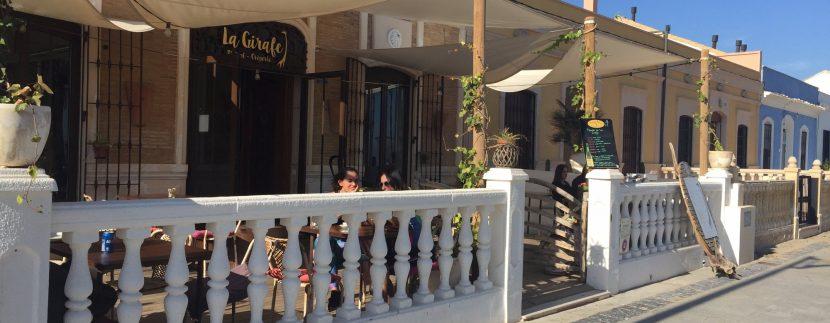 restaurante La Girafe en la Patacona Playa