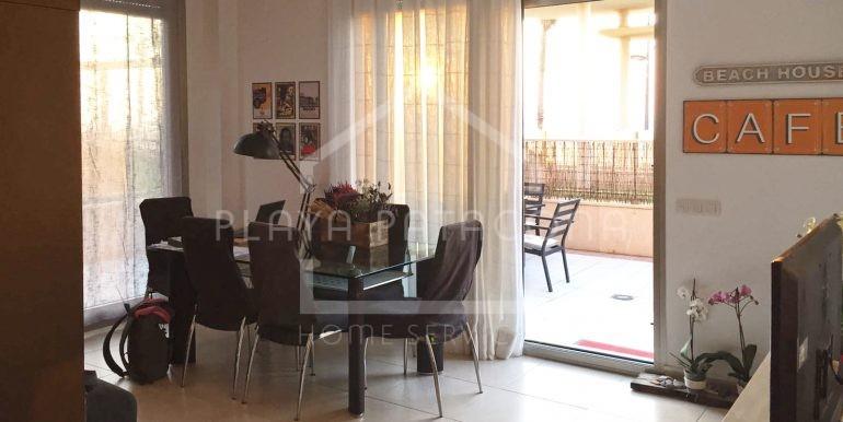 comedor en Apartamento exclusivo con vistas frente al mar en Patacona
