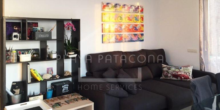 salón-en Apartamento exclusivo con vistas frente al mar en Patacona