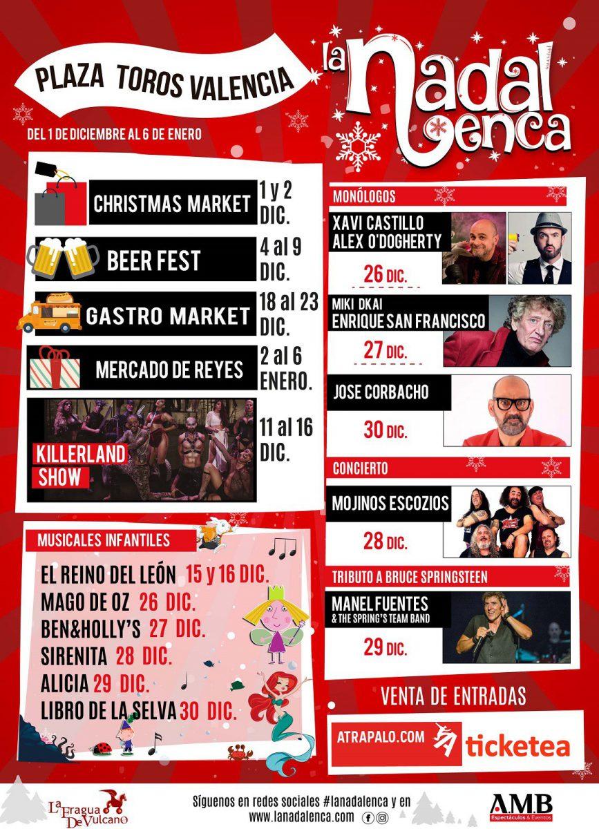 Cartel de actividades de Navidad en Valencia
